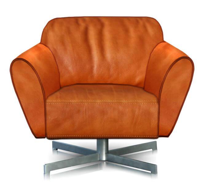 perida.nl fauteuil model Mood vooraanzicht in leer