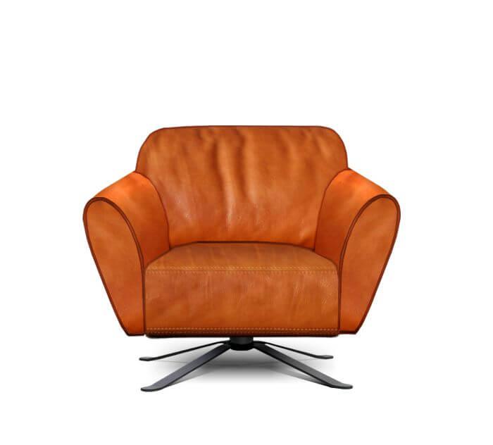 perida.nl fauteuil Mood met onderstel Mocca