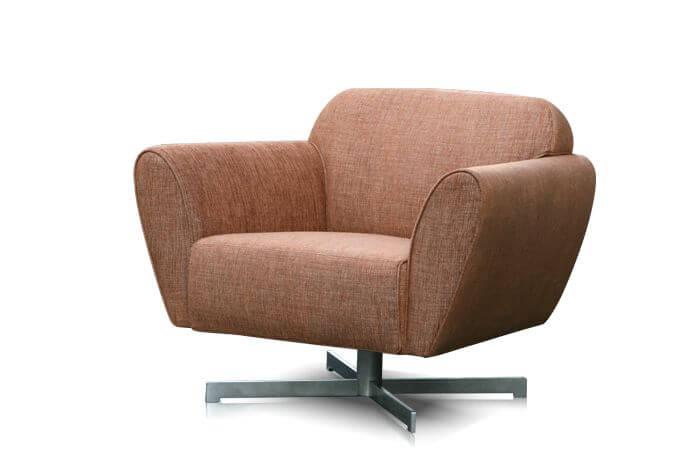 perida.nl fauteuil model Mood vooraanzicht in stof diagonaal