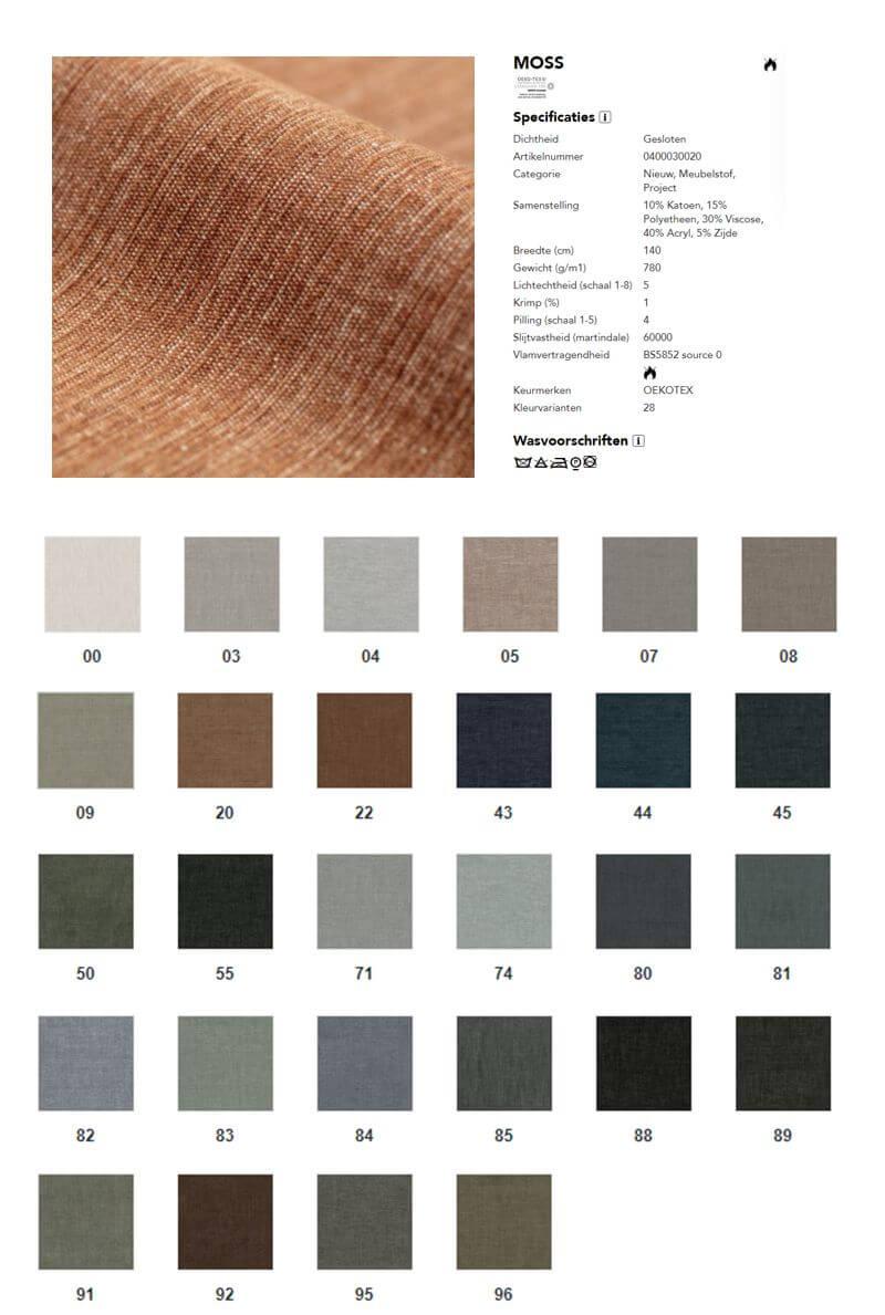 perida.nl bekleding Ploeg Moss kleuroverzicht
